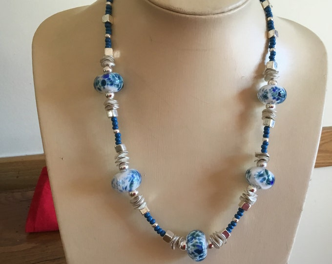 Blues Flame Work Necklace