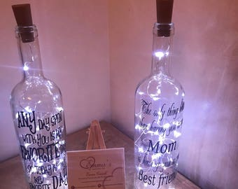Family / Home light up bottles