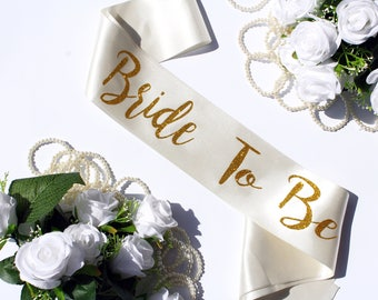 Plus Size Bride To Be Satin Sash, Wedding Sash, Bachelorette Sash, Bridal Sash, Cream Satin Sash, Birthday Sash, Bridesmaid, Love, Style R