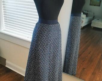 Vintage blue long skirt small/medium