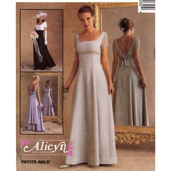 Brides Romantic wedding gown or bridesmaid dress sewing pattern ...