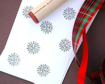 Deco Snowflake Rubber Stamp