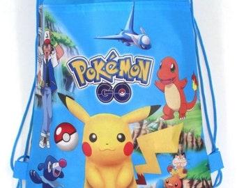 Pokemon favor bag, Pokemon party favors, Pokemon treat bag, Pokemon Goody bag, Pokemon birthday party bag, Pokemon Drawstring bag
