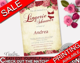Lingerie Shower Invitation Bridal Shower Lingerie Shower Invitation Vintage Bridal Shower Lingerie Shower Invitation Bridal Shower XBJK2
