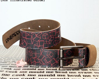 Leather Belt Pattern - How to make a Leather Belt - DIY Leather Tutorial -   (Illustrated PDF Guide - Instant download)