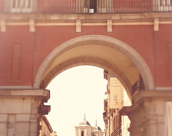 Spain Photography, Landscape Wall Art, Spanish Wall Art, Madrid art print, color photograph, architecture, travel, arch, Spain home decor