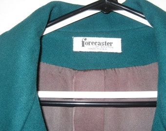 Vintage Forecaster of Boston 3/4 Length 100% Wool Jacket Fully Lined Double Breasted-Look, Size 15/16