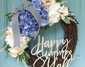 Happy Summer Y'all Laser Cut! Wreath Decor/ Home Decor / Door Hanger