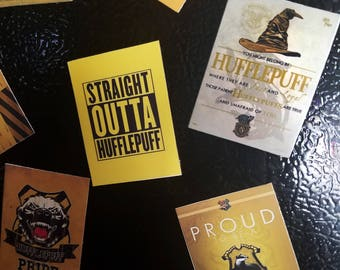 House Hufflepuff Harry Potter Inspired Magnets.