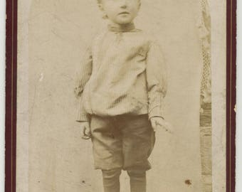 old photo antique vintage CDV child / young boy