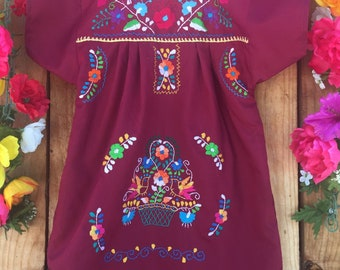 Mexican embroidered child dress size 4T-5T