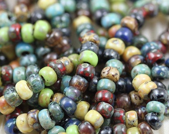 6/0 Forest Lake Picasso Mega Mix Miyuki Seed Beads - 30grams - spectacular colors...