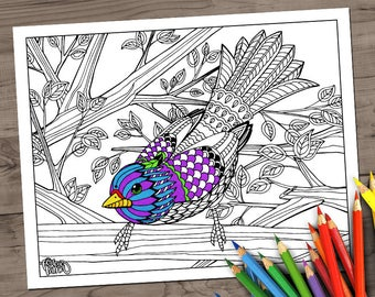Sparrow. Downloadable Coloring page