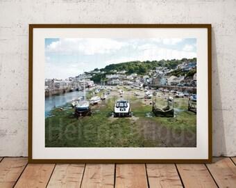 Nautical Wall Art, Nautical Wall Decor, Nautical Room Decor, Nautical Prints, Nautical Art Print, Nautical Home Decor, Cornish Wall Decor
