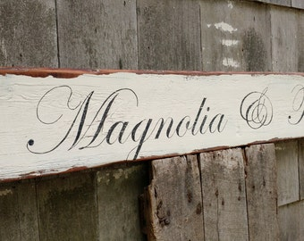 CUSTOM barn wood signs personalized wedding house gift hand-painted distressed shabby chic on reclaimed barnwood MADE 2 ORDER