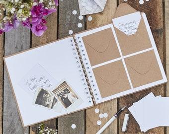 Envelope Guest Book, Best Day Ever Guest Book, Rustic Wedding Guest Book, Wedding Keepsake, Wedding Advice, Boho Wedding Guest Book, Kraft