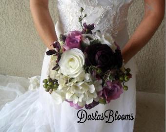 Ahnliche Artikel Wie Brautstrauss Hochzeitsblumen Rosen Hortensie