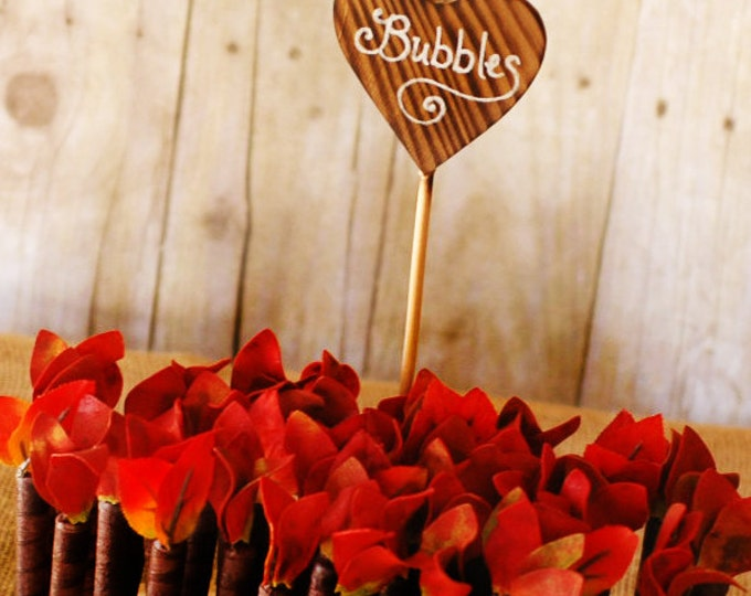 180 Red Twig Style Wedding Bubble favors without bases or signs
