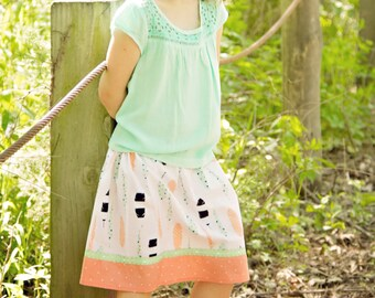 Pretty Feathers  Skirt (18 mos, 2T, 3T, 4T, 5, 6, 7, 8, 10)