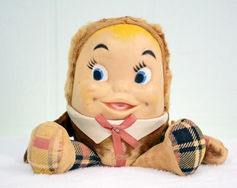 1955 Knickerbocker Humpty Dumpty Stuffed Toy Plush - Made in New York USA