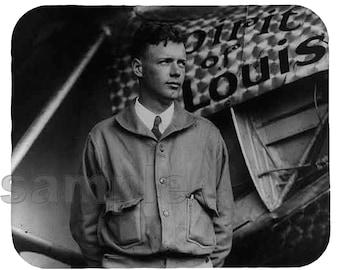 Mouse Pad; Charles Lindbergh Spirit Of St. Louis