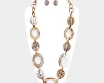 Hoop Link Long Necklace