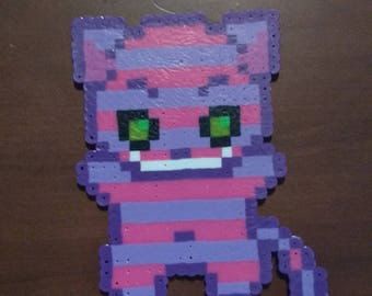 Alice in Wonderland - Cheshire Cat  6.5x4.0 Perler Bead Art Pixel Art Chess