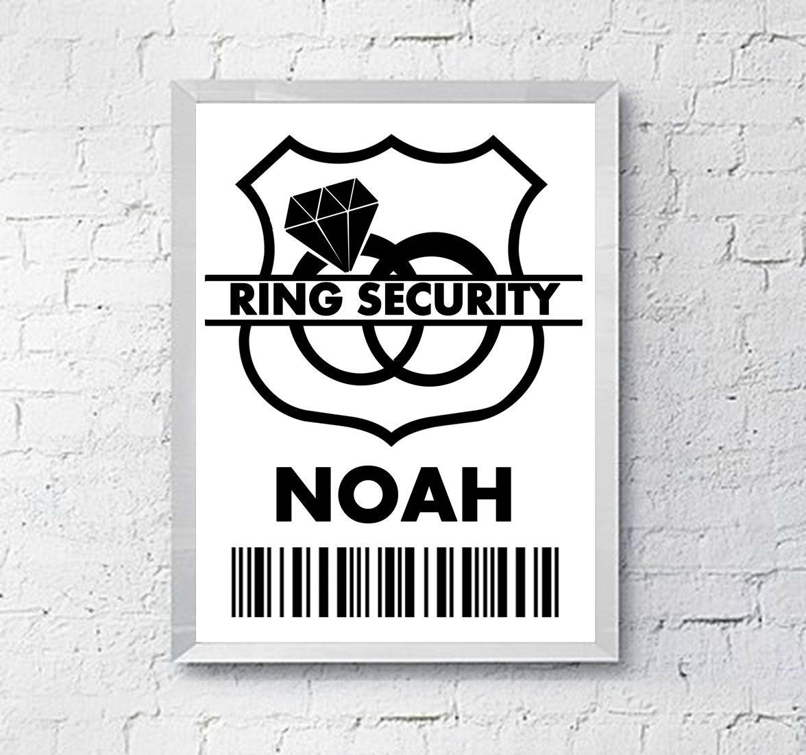 Wedding Ring Security Badge Ring Bearer Gift Digital - Security badge template