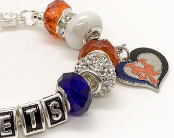 NY METS jewelry Bracelets New York Mets jewelry bracelets all inspired, handmade