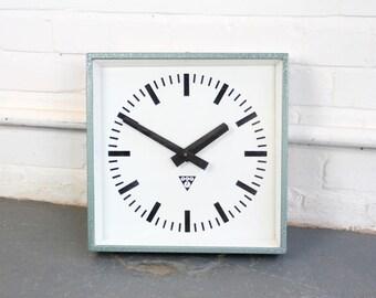 Coloured Modernist Clocks By Pragotron Circa 1960s