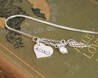 Bookmark – Hugs and Kisses XOXO Heart Simply Charming Sterling Silver Bookmark