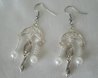 Goddess Earrings, goddess jewelry wiccan jewelry pagan jewelry wicca jewelry witch witchcraft handfasting wiccan earrings pagan earrings