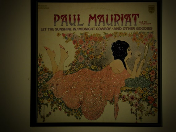Glittered Record Album - Paul Mauriat - Let The Sunshine In, Midnight Cowboy, and Other Goodies