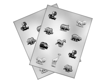 Zoo Animals Chocolate Mold - Baking Candy Making Craft Packaging Party Supplies
