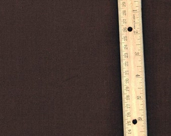 Solid Brown Fabric, Broadcloth, Fall fabric, Fabric by the Yard, Dark Brown Fabric