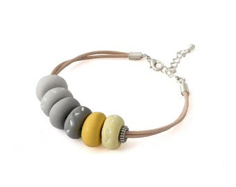 Chunky Bracelet - Boho Bracelet - Multi Color Bracelet - Beach Bracelet - Festival Bracelet - Cotton Cord Bracelet, Mothers Day Gift for Her