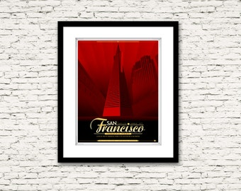 The Streets of San Francisco Series Transamerica Pyramid Poster 16x20