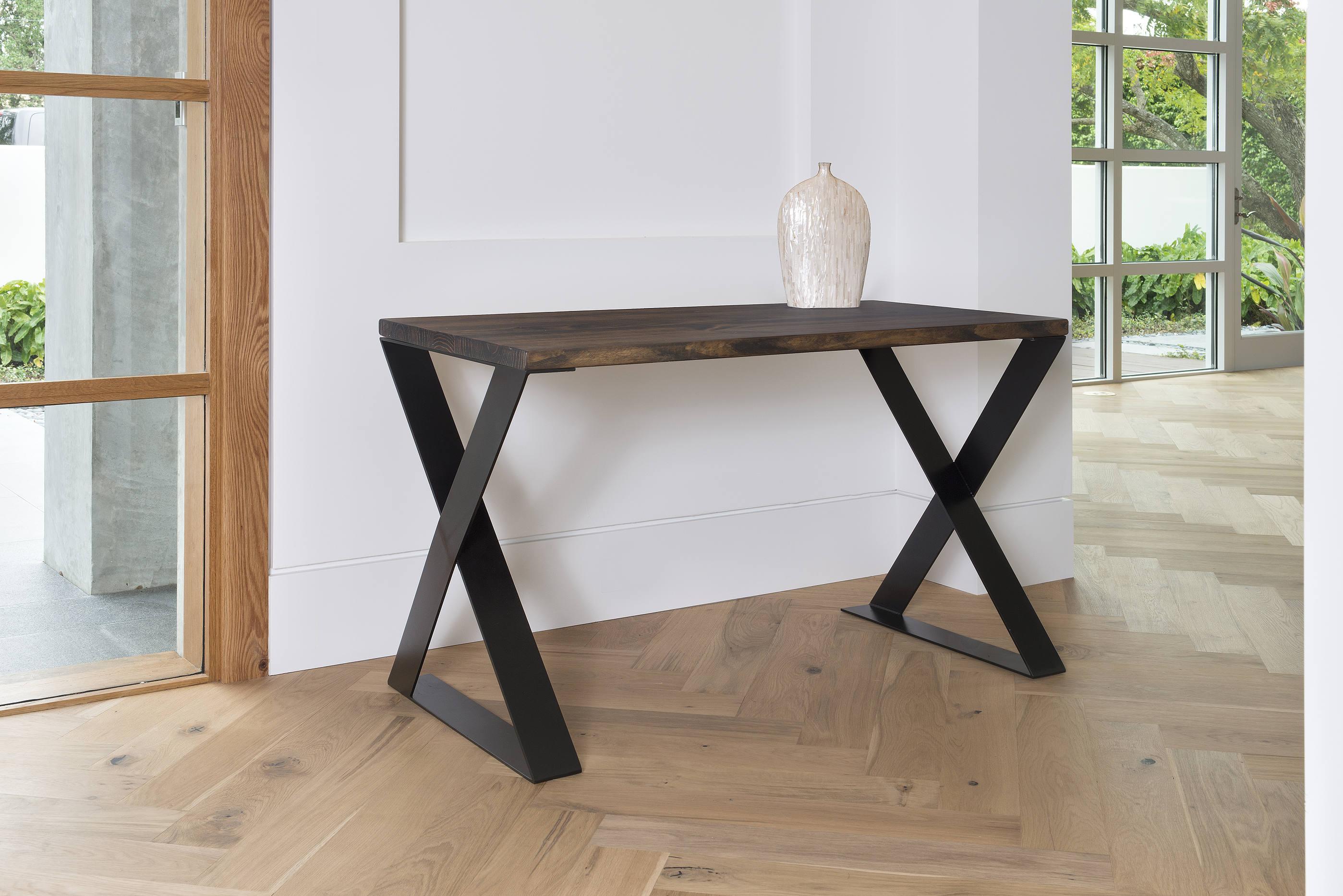 dark wood steel contemporary desk stainless office reno modern