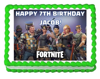 Fortnite party edible cake image cake topper frosting sheet**