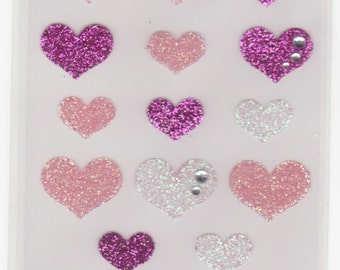 Heart Stickers - Glitter Stickers - Mind Wave Stickers - Reference F1226F1651F1970