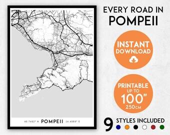 Milan map print milan print milan city map italy map milan pompeii map print pompeii print pompeii city map italy map pompeii poster gumiabroncs Choice Image