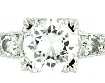 A Vintage Platinum Diamond Engagement Ring
