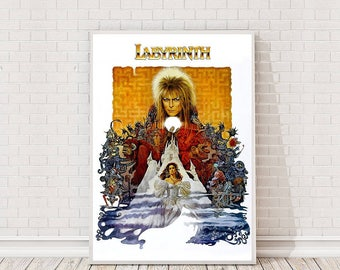 Labyrinth Poster Art Film Poster Classic Movie Poster