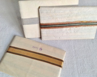 Vintage Art Deco Silk Ribbon Tape/ Golden, Silver or Stripes Vintage Period Costume Millinery & Style 2 yd Sewing Supplies