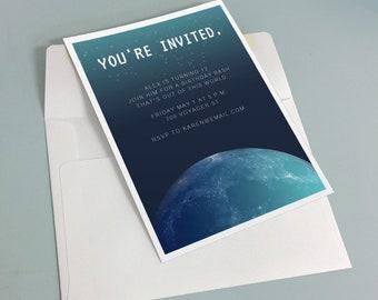Mystical Moon Invitation Template - Editable Party Invitation Printable