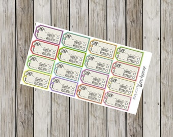 Order Tracker Stickers for Erin Condren Life Planner (ECLP)