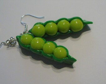 Earrings dots / / garden vegetable / / 70 polymer clay creation