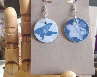 Cyanotype Earrings
