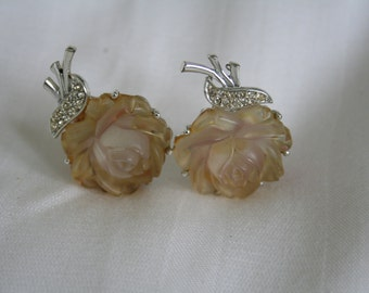 Rose Thermoset Earrings
