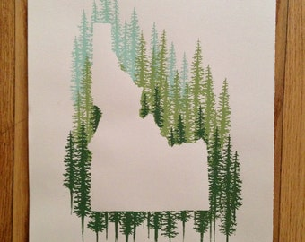 Idaho State Print - Pine